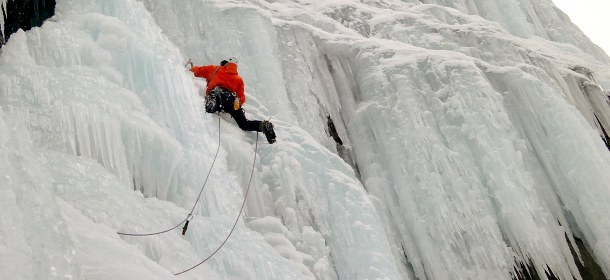 escalade de cascade de glace